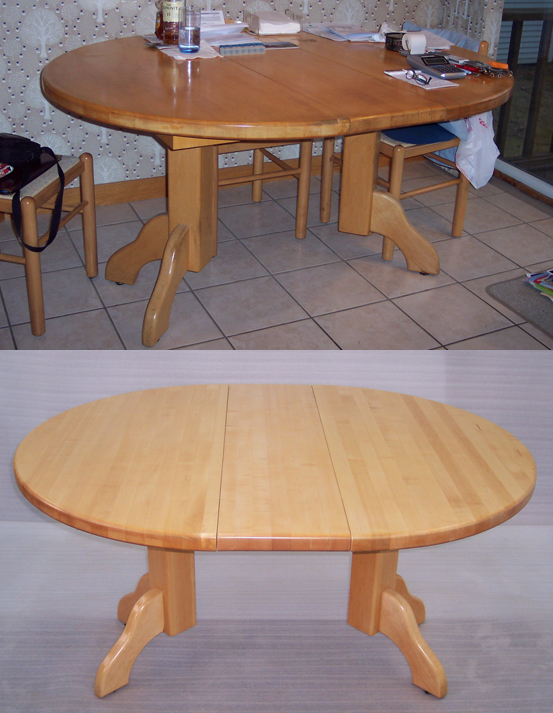 Color Matched Wood Table