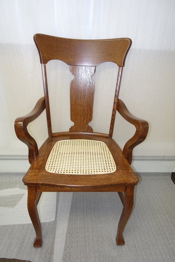 after photo of repaired chair