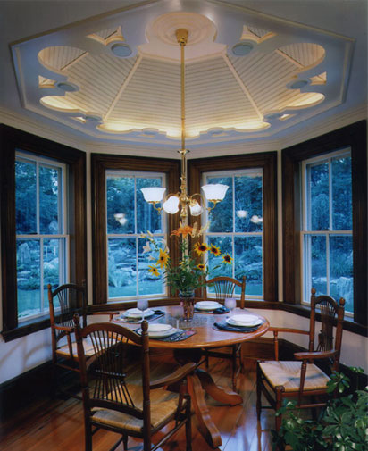 Featured in Old House Journal. The finish on the oak trim is two-toned, duplicating the usual oak and walnut configuration for the period. The old growth fir floors were color matched to the original floors found in the rest of the house.