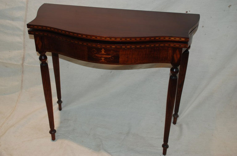 Antique mahogany card table, fully restored.
