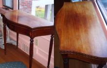 Mahogany Table before and after